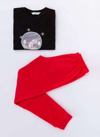 Penti Sıyah-Kırmızı Teen Ny Termal 2Li Pijama Takımı Siyah